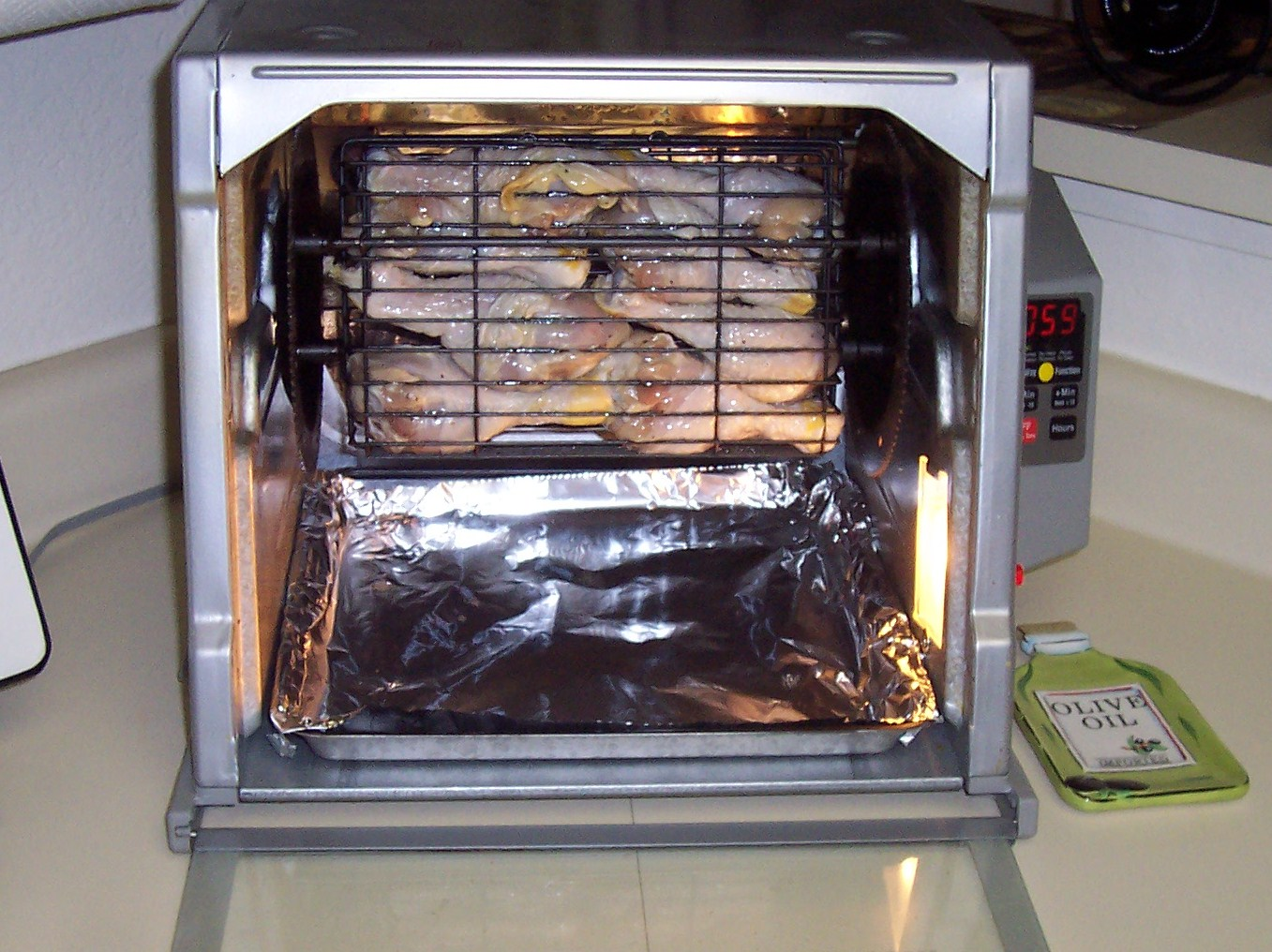 Bone In Center Cut Pork Roast On Ronco Rotisserie Oster Carousel Rotisserie Wolfgang Puck
