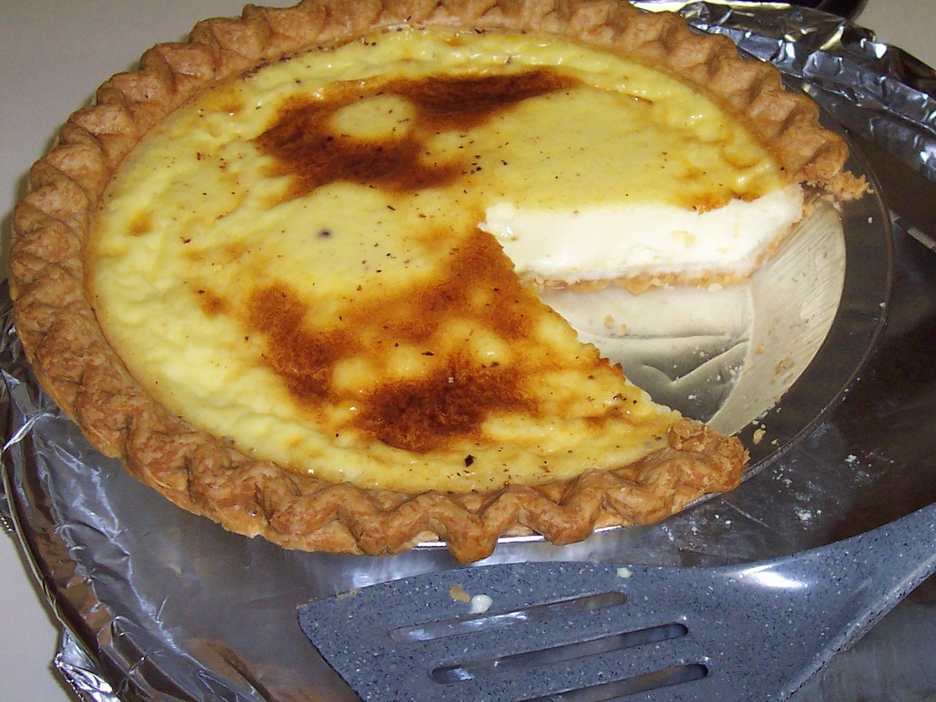Cinnamon Custard Pie Recipe — Dishmaps