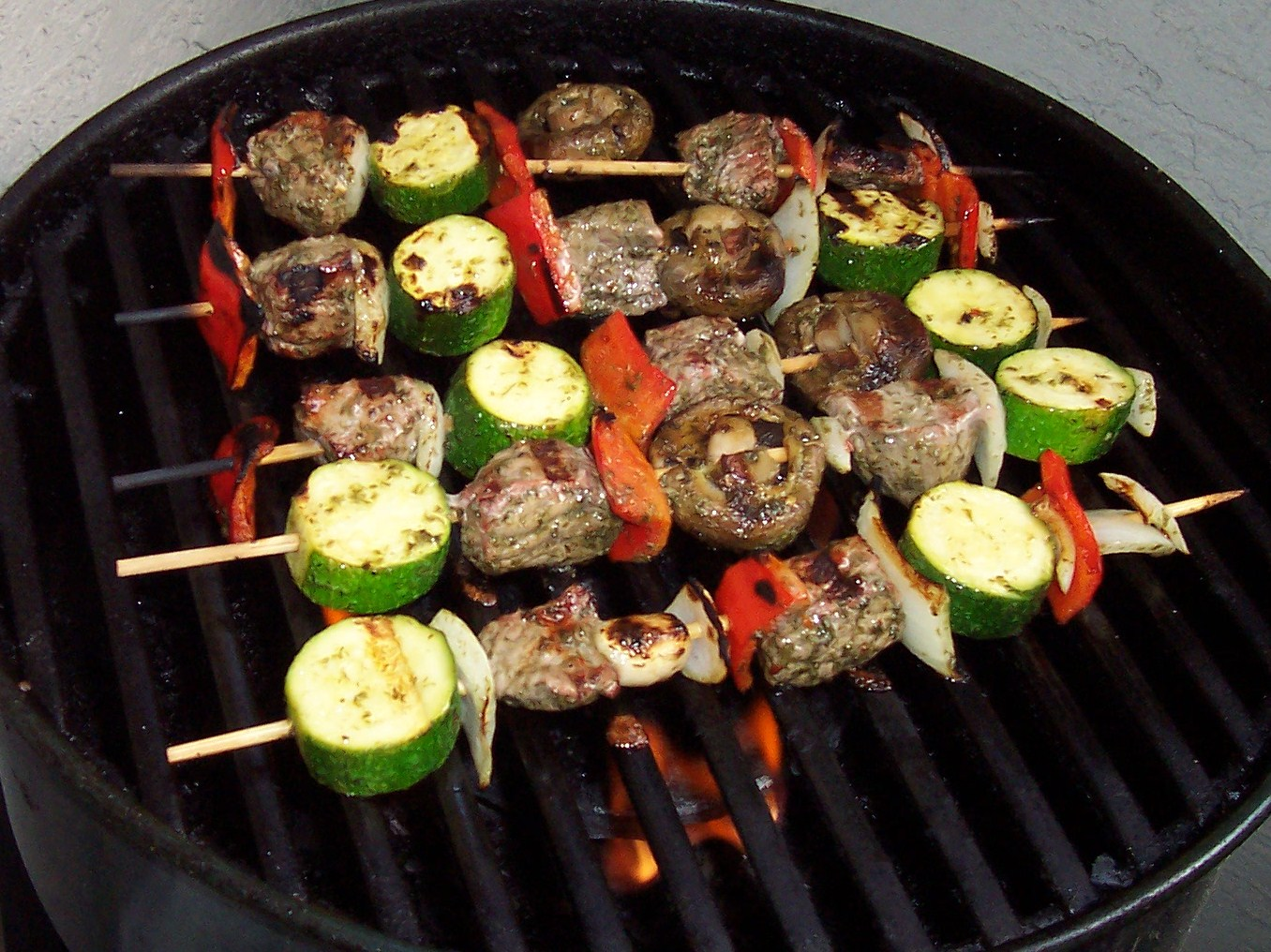 ... KABOB's are made with Beef that was marinated in a Chimichurri Sauce