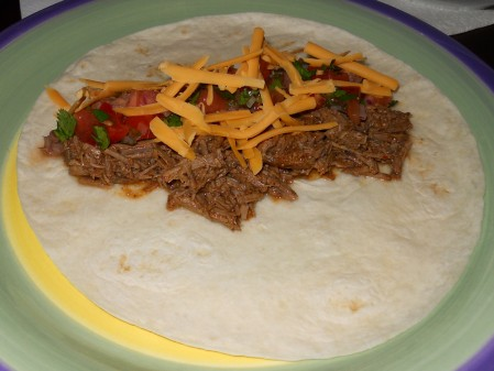 Homeade Barbacoa Beef Taco