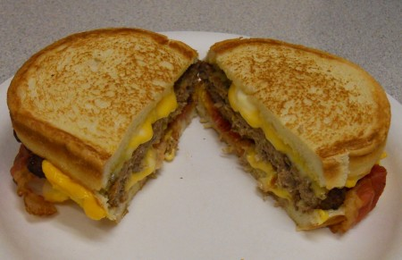 Carl's Jr. Grilled Cheese Burger