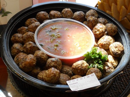 Solid Meatballs & Undipable Sauce