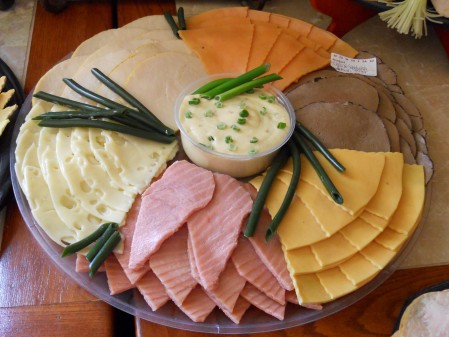 Fake Meat & Cheese Platter