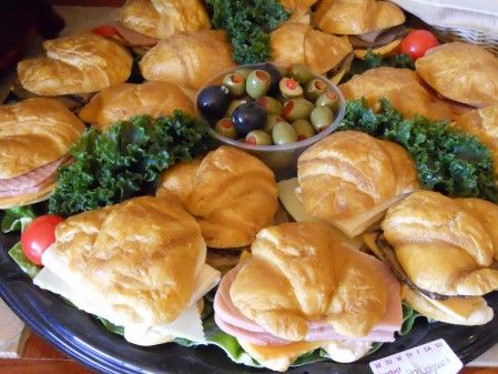 Phony Croissant Sandwiches and Olives