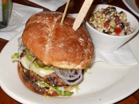 Baja California Burger with Sweet Corn Salad