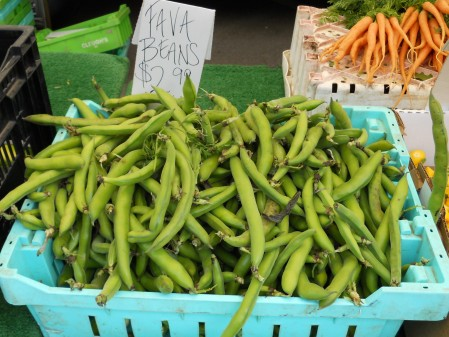 Fava Beans for sale at the Corona Del Mar Farmers' Market
