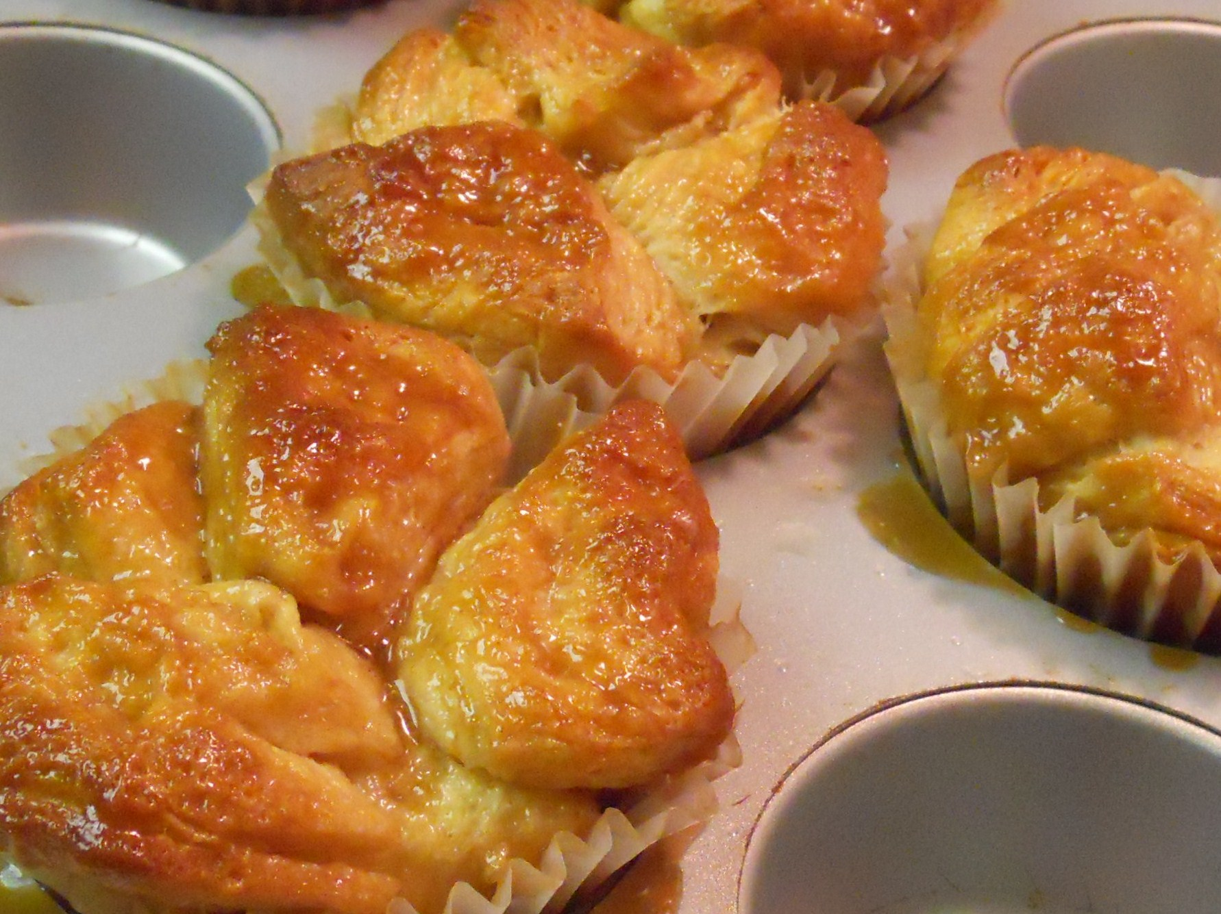 Monkey Bread Jumbo Cupcakes Recipe — Dishmaps