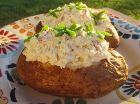 Jalapeno Ham Stuffed Potatoes