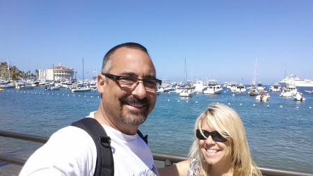 Matt and Shelly Freis in Catalina