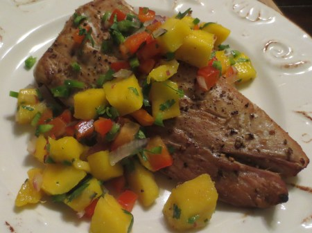 Yellowtail with Mango Salsa