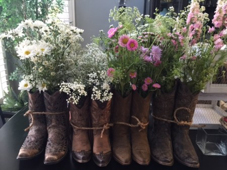 Boots with Wild Flowers