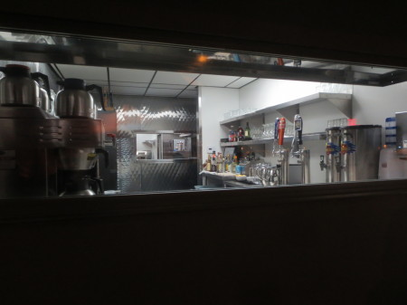 Peek Window at Wing's Cafe