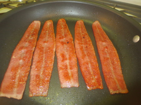 Cooked Turkey Bacon