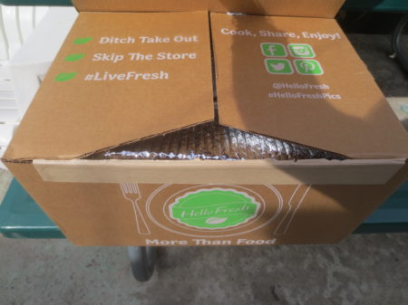 Box from Hello Fresh